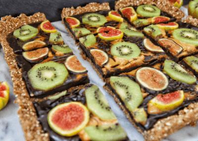Figgy Kiwi Chocolate Swirl Cake