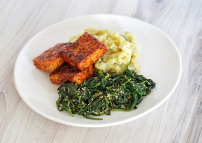 Vegan BBQ Pan Fried Tofu